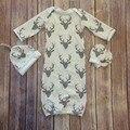SR113 Presente Novo Do Natal do bebê pijamas define newborn 3 Pcs dormir bag + luvas + chapéu do bebê pijama conjunto bebê saco de dormir varejo