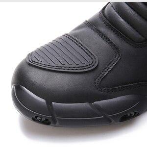 Image 4 - ARCX دراجة نارية أحذية عالية الجودة دائم مريحة دراجة نارية بجولة دراجة ركوب المهنية متسابق سباق الأحذية