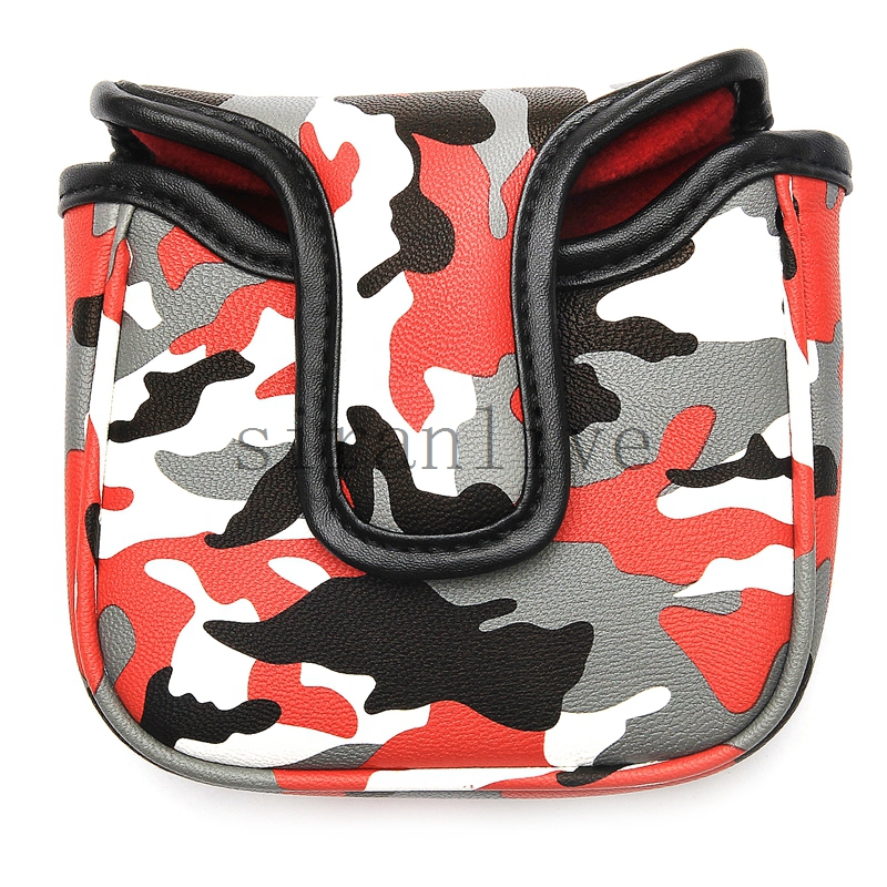 Golf Square Large Mallet Putter Cover Club Headcover Magnetic Closure For Tayloramde Spider Putter