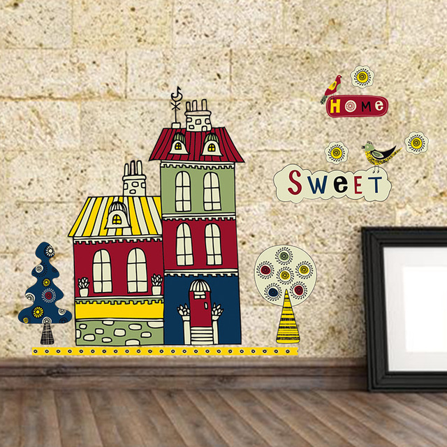 The New Building Sitting Room Adornment Bedroom Cartoon PVC Composite Wall Stick
