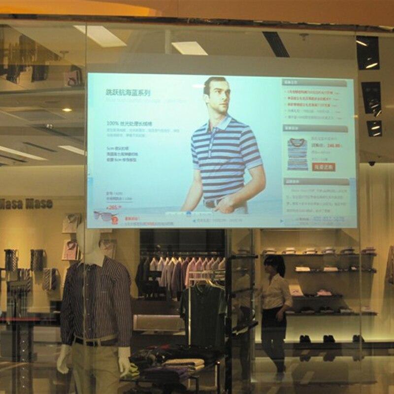 Hot sale!! Transparent film Advertising Projection Transparent Holographic Screens transparent rear projection film 1.52mx10m