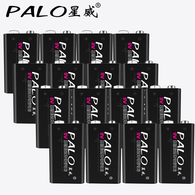 16 pack 600mAh Li-ion 9 V Rechargeable Batteries For Smoke detectors Wireless Microphones free shipping стоимость