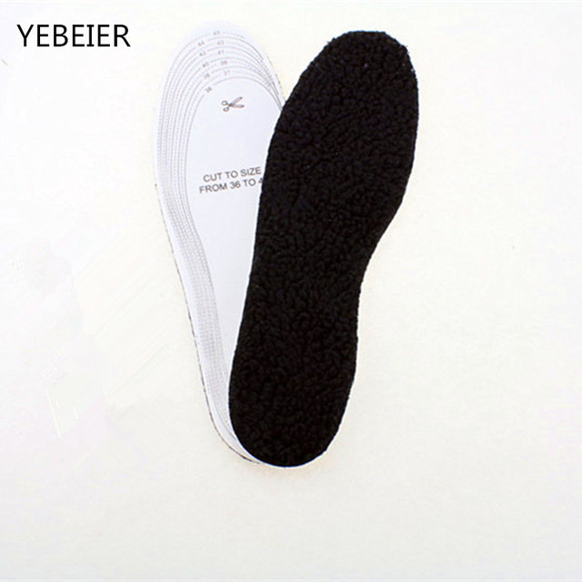 Black surface Winter Warm Soft Wool Winter Shoes Insoles Pad Size 35-45 for Man/woman 1lot=1pair=2pieces