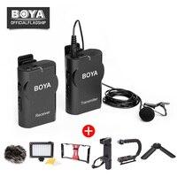 ボヤBY-WM4ワイヤレスラベリアマイクシステムスマートフォンラペルマイク用iphone 8 7アンドロイドキヤノンニコンタブレットpcオーディオレコー