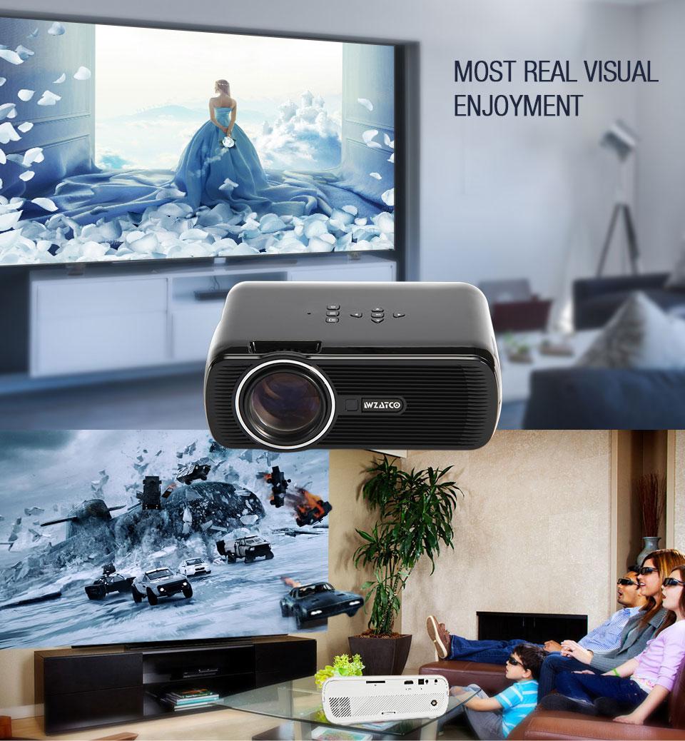 6 3D テレビプロジェクターサポートフル LED 8