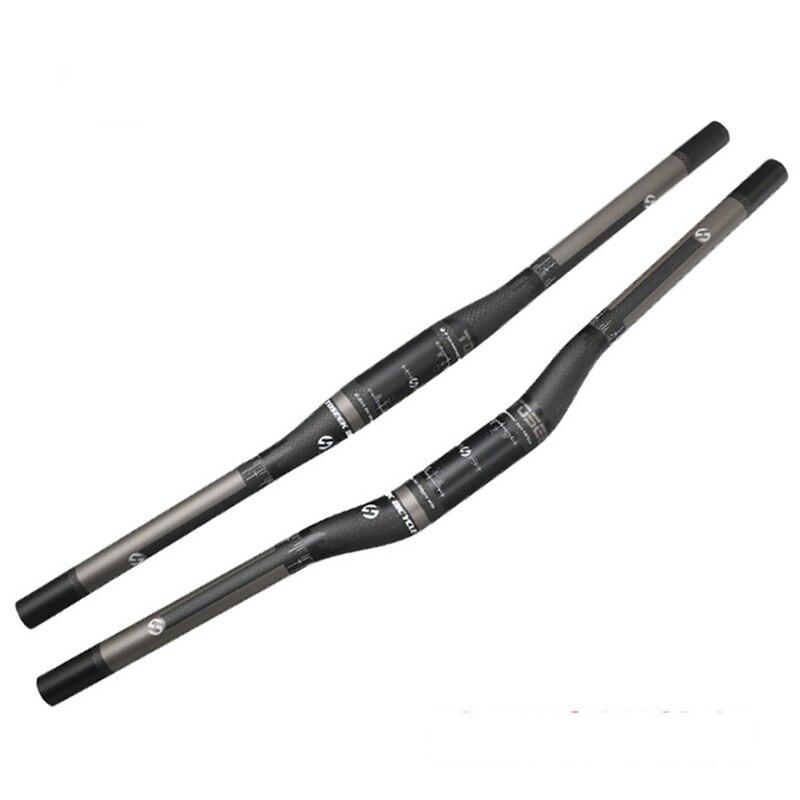 <+>  TOSEEK Углеродное волокно Велосипедные рули в форме ласточки / одной формы Черный матовый дорожный б ✔