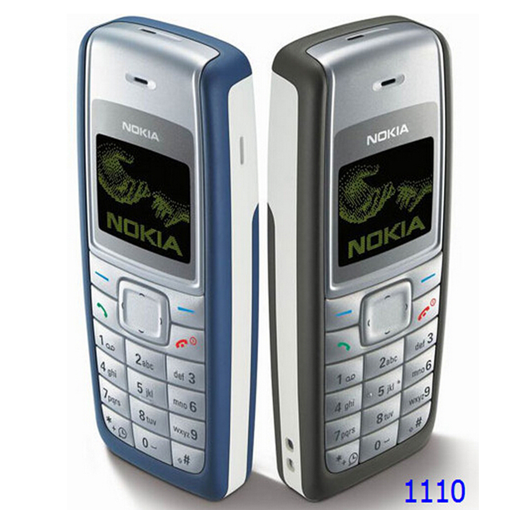 1110 Unlocked Nokia 1110 Mobile phone Dualband Classic GSM Refurbished Cell phone