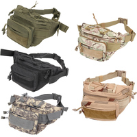 Utility Tactical Waist Pack Canvas Waist Packs Unisex Belt Bags Pouch Military Camping Hiking Running Sports