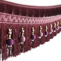Luxury Window Curtain Laciness Decoration Lace Tassel Pendant Crystal Bead Ball Curtain Accessories DIY Curtain Lace