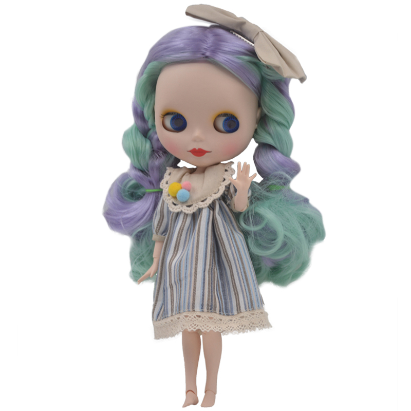 Factory Neo Blyth Doll Customized Matte Face,1/6 BJD Ball Jointed Doll Blyth Dolls for Girl Gift Toys for Children