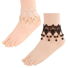 HOT Brand New Fashion Women Jewelry Gothic Fresh Sweet Lace Pearl Anklet