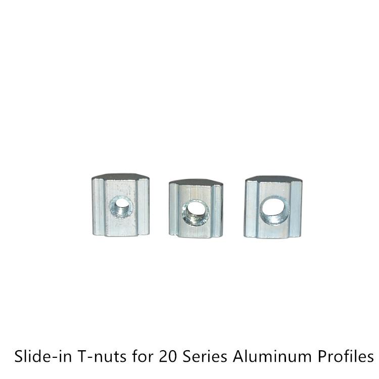 10pcs T-slider nut M3//M4//M5 for 3D printer 20 Aluminium Extrusion Profile