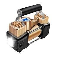 12 В в 200PSI Универсальный двойной цилиндр высокой мощности питьевой воздушный компрессор насос металлический цилиндр автомобиля шины Надувн