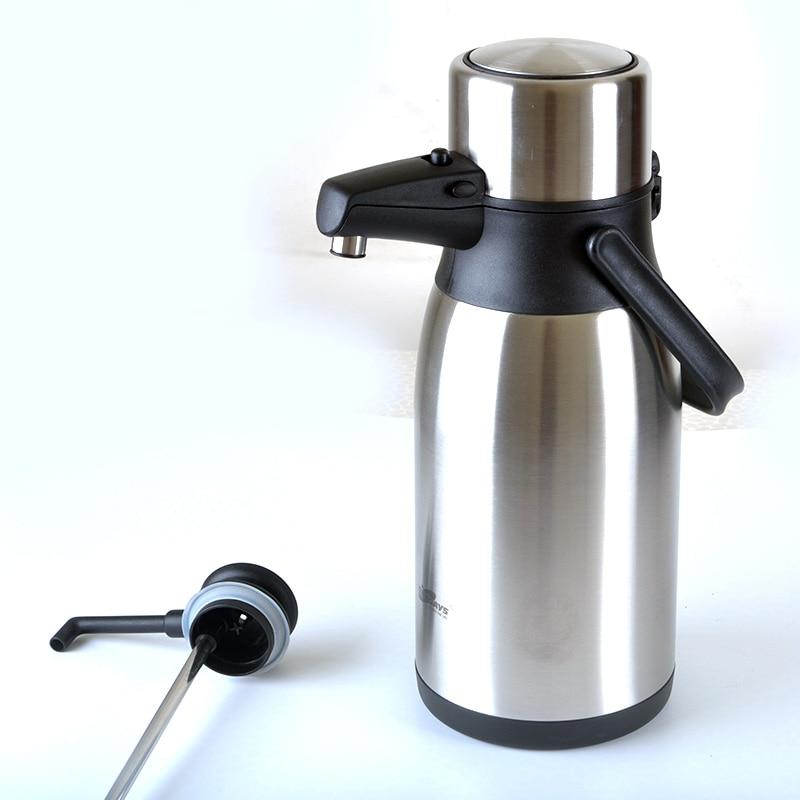 304 ze stali nierdzewnej izolowane butelka termosowa kubek termiczny dzbanek do kawy termiczny czajnik wody 2.5L, 3L termos termiczny