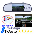 Парковка 5 дюймов 800 * 480 жк-дисплей автомобиль HD дисплей зад вид зеркало монитор 2ch видео вход