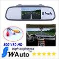 5 polegada de 800 * 480 LCD Hd carro espelho retrovisor Monitor 2ch entrada de vídeo
