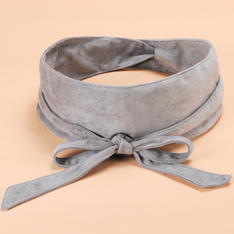 Women   Belt   Wide Designer High Quality Velvet Bow Sweet Girl Long Knotted   BeltS   Fashion Decoration Skirt Waist Seal Girl Luxury