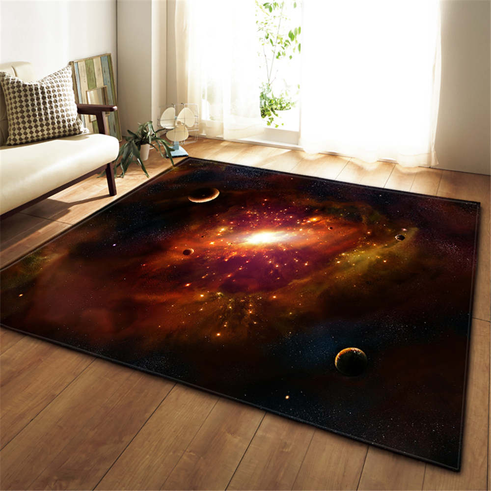 Image 5 - 3D Galaxy Space Stars Carpets Living Room Decoration Bedroom 
