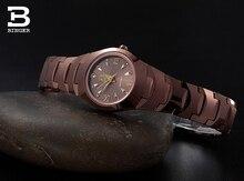 Люксовый Бренд Швейцария Бингер вольфрама стали часы женщины кварцевые часы пиво баррель полный стали наручные часы BG-0394-9
