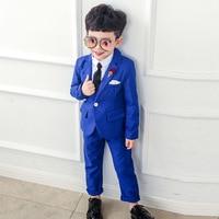 2019 New 3PCS Kids Wedding Blazer Suit Brand Boys Formal Tuxedos School Suit Kids Spring Clothing Set kids blazers