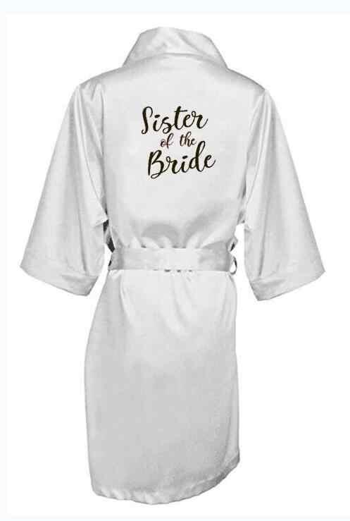 Seksi Gray Perak Jubah Kimono Pengantin Piyama Pernikahan Jubah Bridesmaid Matron Maid Of Honor Sister Ibu dari Pengantin Wanita Jubah
