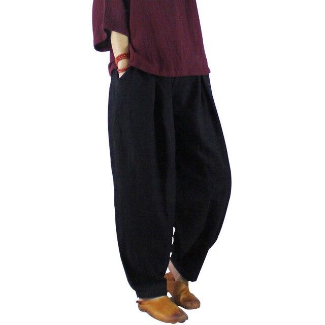 06bc8c424d7 Clobee pantalones mujer 2017 Women Harem Pants Vintage Plus Size Elastic  Waist Linen Cotton Pants for