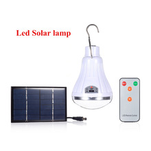 Solar panel Power systerm with 20 LED Solar Garden Home Security Lamp Dimmable led solar lightby remote control Camp Travel