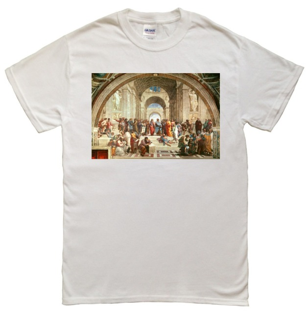 Summer Cotton The School of Athens Men T-Shirt