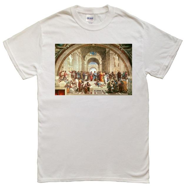 Camiseta de algodón de verano para hombre de The School of Athens