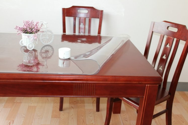 Waterproof dining table cloth coffee table transparent plastic pvc mat thickening transparent soft glass table cloth