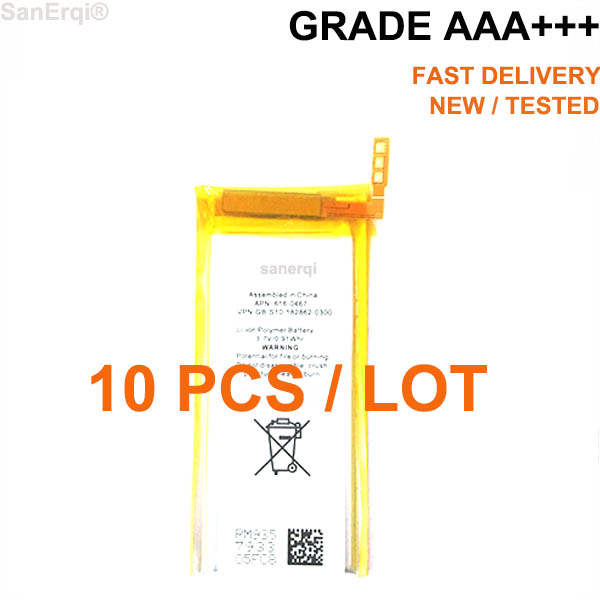 10PCS / LOT New 3.7V Li-ion Battery Replacement for iPod Nano 5 5th Gen Battery(China)