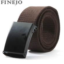FINEJO Canvas Waistband Plain 2017 Belt Casual Unisex Women Belt Waist Fashion Belts Men Webbing Strap(China)