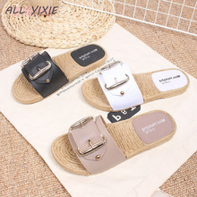 ALL YIXIE 2019 Summer New Womens Shoes Slippers Sandals Square Buckle Casual Indoor Outdoor Non-slip Beach