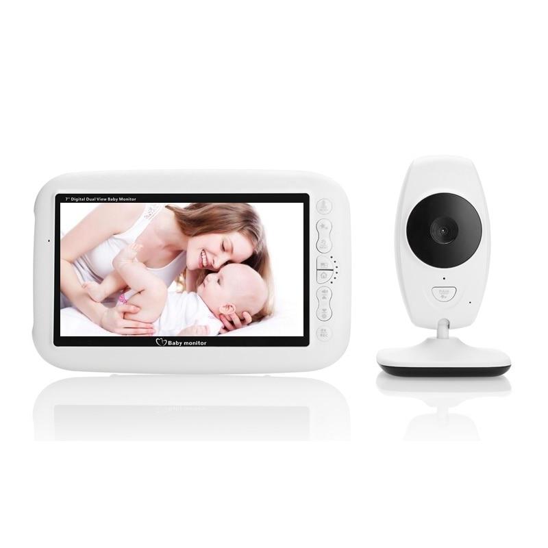 7.0 inch baby phone camera monitor IR Night vision Intercom 4 Lullabies Temperature monitor babyphone camera video baby monitor