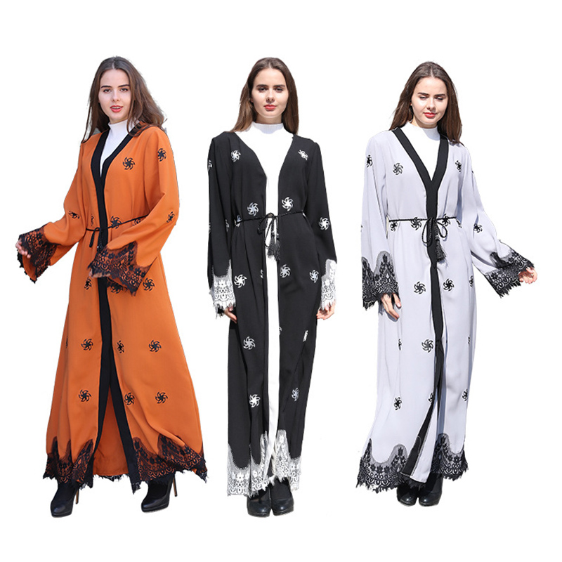2019 Women Summer Muslim Dress Abaya Plus Size Indian Dress For women Lace Kaftan Islamic MuslimTurkish Arabic african clothes