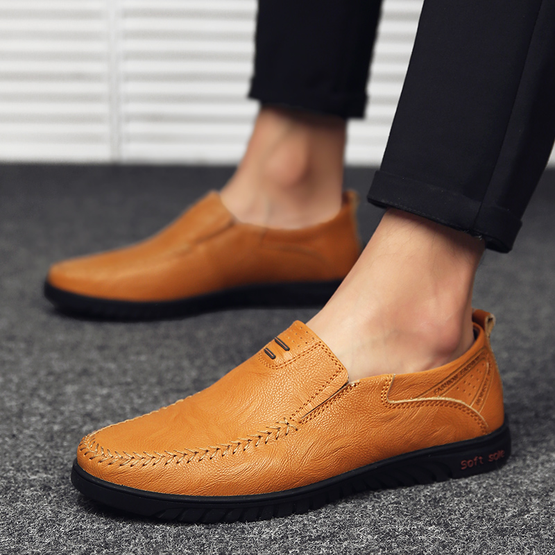 HTB1vQdSaULrK1Rjy1zbq6AenFXaS Genuine Leather Men Casual Shoes Luxury Brand Designer Mens Loafers Moccasins Breathable Slip on Driving Shoes Plus Size 37-47
