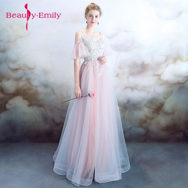 eb3a418824057 Fairy like Evening Dresses 2018 Plus light chiffon Appliques Long Formal  Dresses Gowns V Neck Lace Up Sleeveless Robe De Soiree