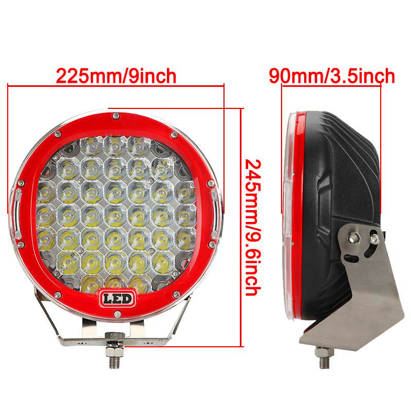 2pics 185W High Power LED Work Light spot / Flood Lamp Driving lamp for ATV Ranger 4X4 Offroad Tractor Truck boat red black 90w led driver dc40v 2 7a high power led driver for flood light street light ip65 constant current drive power supply