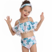 MYT_0099 Girls Swimsuit Children Swimwear Two pieces Set Kids For Bikini Swimsuits