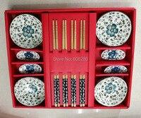 النمط الصيني عيدان أطباق عود حامل أواني المائدة مع الأحمر هدية مربع لل زفاف تذكارية