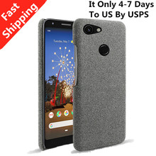 US Fast Shipping For Google Pixel 3A XL Case Slim Retro Woven Fabric Cloth Anti-scratch Hard PC