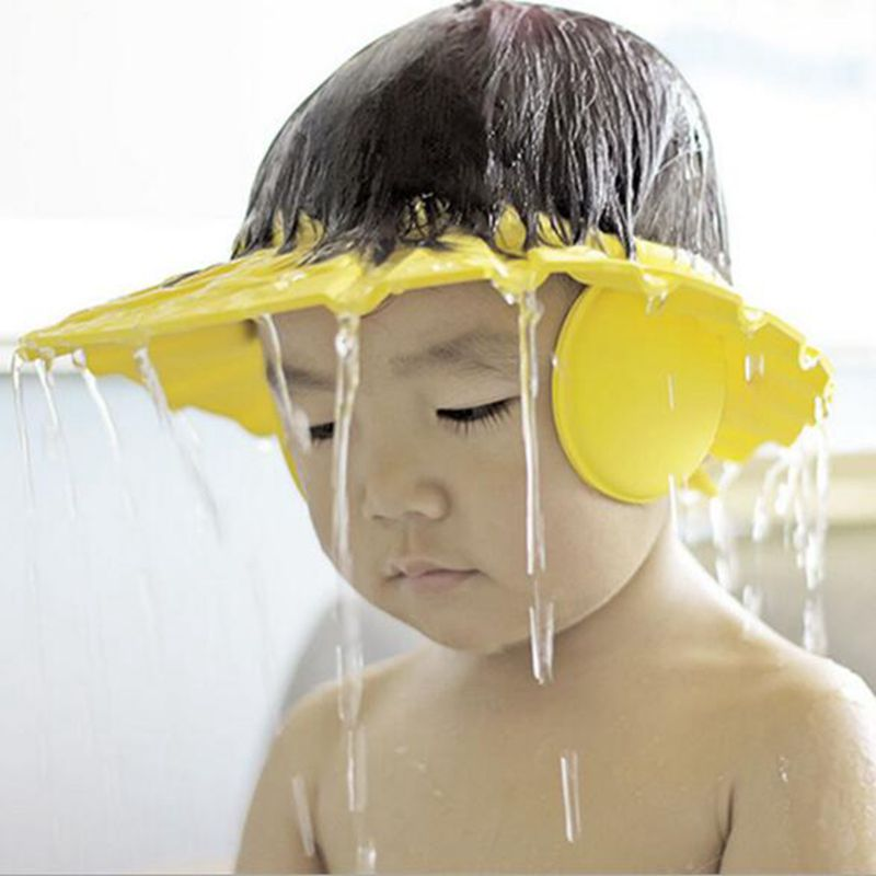Soft Baby Children Shampoo Bath Shower Cap Shampooing For Kids Head To Baby Shower Hat Child Bathing Cap Bath Visor Adjustable