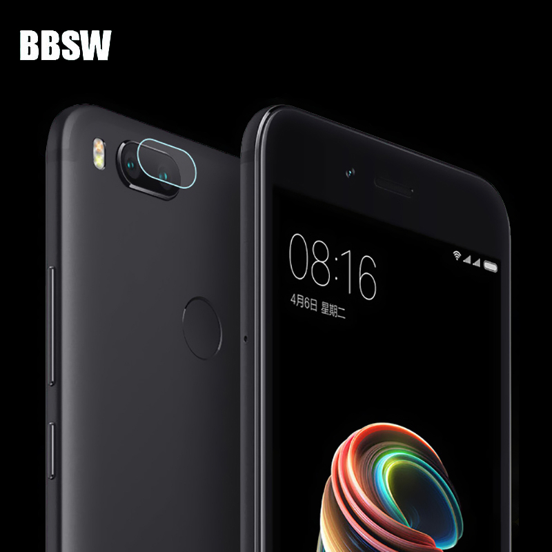 BBSW 1Pc/2Pcs Rear Camera Lens Transparent Clear Tempered Glass For Xiaomi Mi 5X Clear Back Camera Lens Protective Flim Glass