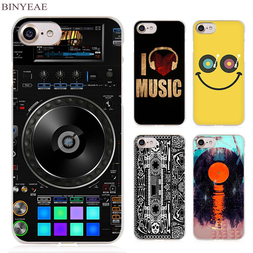 BINYEAE dj music bank Clear Cell Phone Case Cover for Apple iPhone 4 4s 5 5s SE 5c 6 6s 7 Plus