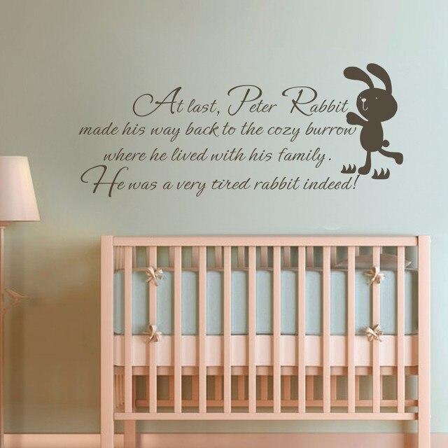 Kinder Wand Zitat Peter Kaninchen Baby Kinderzimmer Schlafzimmer Kinderzimmer  Wandtattoo Kunst Aufkleber 54