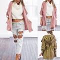 Женщины Теплый Мода Капюшоном Длинное Пальто Ветровка Куртка Верхняя Одежда