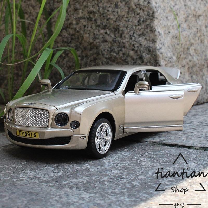 Kids Toys 1:32 Bentley Metallic Material Die Casting Car