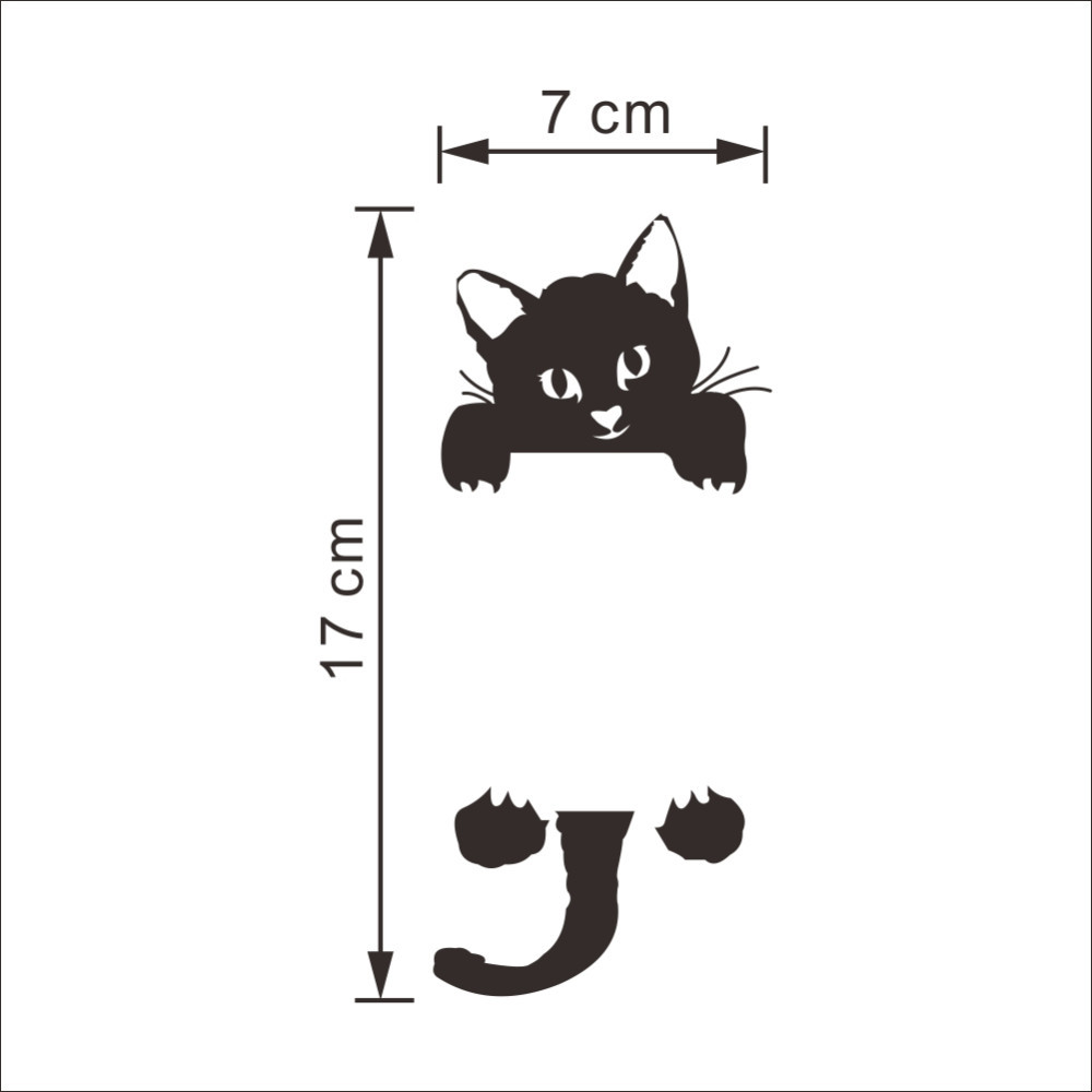 DIY Funny Cute Black Cat Dog Rat Mouse Animls Switch Decal Wall Stickers DIY Funny Cute Black Cat Dog Rat Mouse Animls Switch Decal Wall Stickers HTB1vQenJVXXXXb