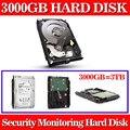 Novo 3000 gb 3.5 polegada monitoramento sata hard drive hard disk 64 mb 7200 rpm para standalone dvr gravador de cctv sistema + frete grátis