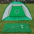 2 m Gaiola De Golfe Swing Trainer Pad Conjunto Bola de Golfe Indoor Formação Prática de Golfe Net Novo sem o tapete
